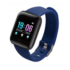 MONDAY 116 Plus Smartwatch Touch Screen Wrist Watch Sports Fitness Tracker with Camera navy