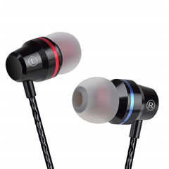 MONDAY Earbuds in Ear Headphones Wired Earphones with Microphone Waterproof Earphone black