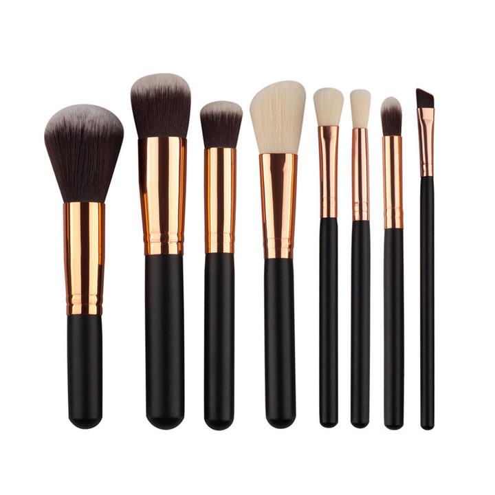 8Pcs Makeup Brush Set Foundation Powder Eyebrow Blush Brush Soft Hair Cosmetics Beauty Tools 8pcs/set black