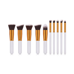 10Pcs Makeup Brushes Set Powder Foundation Blush Blending Eye Shadow Cosmetic Brush Kit 10pcs/set white