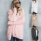 2018 Ins Hot Sale 1 Pc Poly Hooded Plush Cardigan Jacket Long Sleeve Women's Wear Warm Outwear pink l