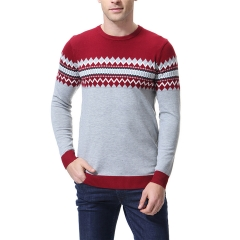 2018 Ins Hot Sale 1 Pc Cotton Men's Casual Sweater O-Neck Slim Fit Knitting Mens Sweaters Pullovers red 2xl
