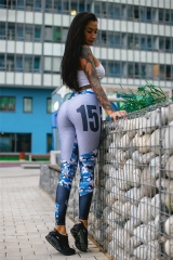 3D Printed Yoga Pants Women Push Up Professional Fitness Gym Sport Leggings Tight Trouser Pencil printed s