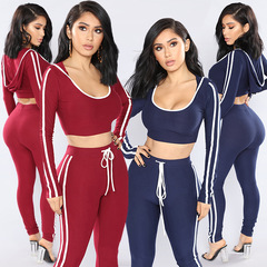 2019 Sexy Sports Suit Women Fitness Gym Jogging Sportswear Running Top And Leggings Sport Suit red xl