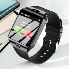 Smartwatch Passometer Support SIM TF Card Bluetooth Handfree Call Reminder Smart Watch for Phone black