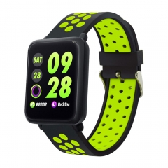 Smart Watch Blood Pressure Men Women Smartwatch Heart Rate IP67 Waterproof for Huawei IOS Android black green