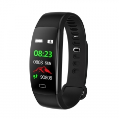 Smartwatch Sport Fitness Bracelet Watch IP68 Waterproof Blood Pressure Heart Rate Monitor Wristband black