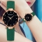 Luxury Women Watches Personality Romantic Starry Sky Wrist Watch Rhinestone Design Ladies Clock green