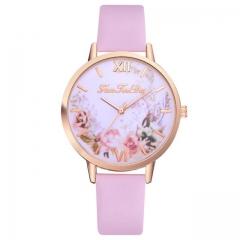Hot Sale Women watch Casual Fashion Quartz Belt Watch Clock Fashion Gift montre femme pink