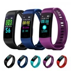 Bluetooth Smart Bracelet Heart Rate Activity Fitness Tracker Blood Pressure Sports Band Smart Watch black