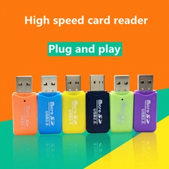 Mini USB 2.0 Card Reader for Micro SD Card TF Card Adapter Plug and Play 16G 32G 64GB for Tablet PC Random colors tf sd card Adapter USB 2.0 Card Reader Mini Reader