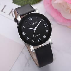 Fashion 2019 Lvpai Women's Casual Quartz Leather Band Watch Analog Wrist Watch Valentine Gift black