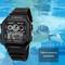 Watches Men Watch Electronic Digital Display Retro Style Clock Male Men's Watch black