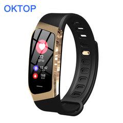 E18 Smart Bracelet Blood Pressure Heart Rate Monitor Tracker smart watch Waterproof Sport Band gold black