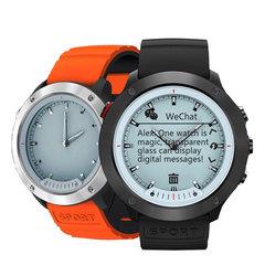 M5 Smart Watch Transparent Screen Smart Band IP68 Waterproof Heart Rate Monitor Hybrid Wristband black type 1