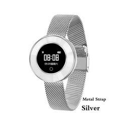 X6 Smart Watch Women IP68 Waterproof Heart Rate Monitoring Blood Pressure Lady Smartwatch Tracker silver metal strap