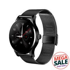 OKTOP K88H Bluetooth Smart Watch Heart Rate Monitor Fitness Tracker Smartwatch Sport Smart Bracelet black metal strap