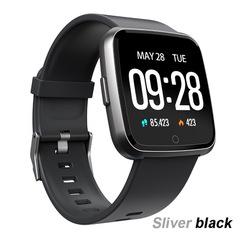Y7 Smart Watch Blood Pressure Oxygen Heart Rate Smart Wristband Fitness Tracking IP67 Smart Bracelet silver black
