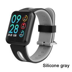 P68 Smart Bracelet Multi-sport wristband IP68 Waterproof Activity Fitness Tracker heart rate Watch grey Silicone