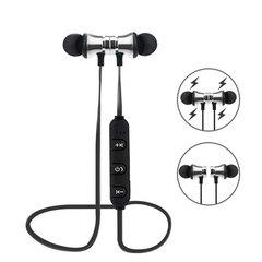 OKTOP E52 4.1 Metal Bluetooth Earbuds Wireless Headphones Sport Bluetooth Earphones with Mic Headset silver
