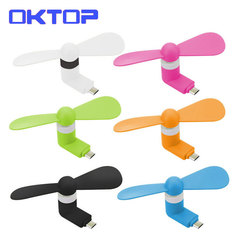 OKTOP Micro Portable USB Mini Fan Phone Accessory For Android Smartphone Random Color randomly color usb android fan f6 not