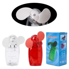 OKTOP Portable Mini Pocket Fan Cool Air Hand Held Battery Travel Holiday Blower Cooler randomly color Mini Pocket Fan f10 not