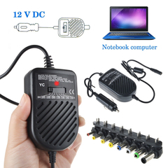 Universal 8 Plugs 80W DC USB Auto Car Charger Adjustable Power Supply Adapter For Laptop Notebook