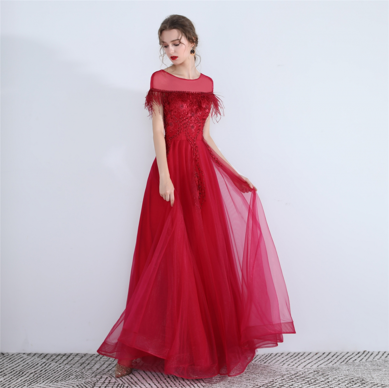 Red Maxi Wedding Dress Dacc