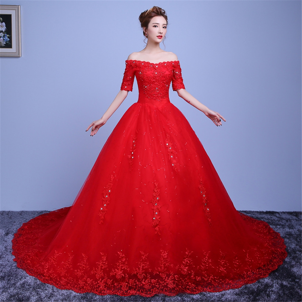 3fdbfb8fa Ball Gown Wedding Dresses Red