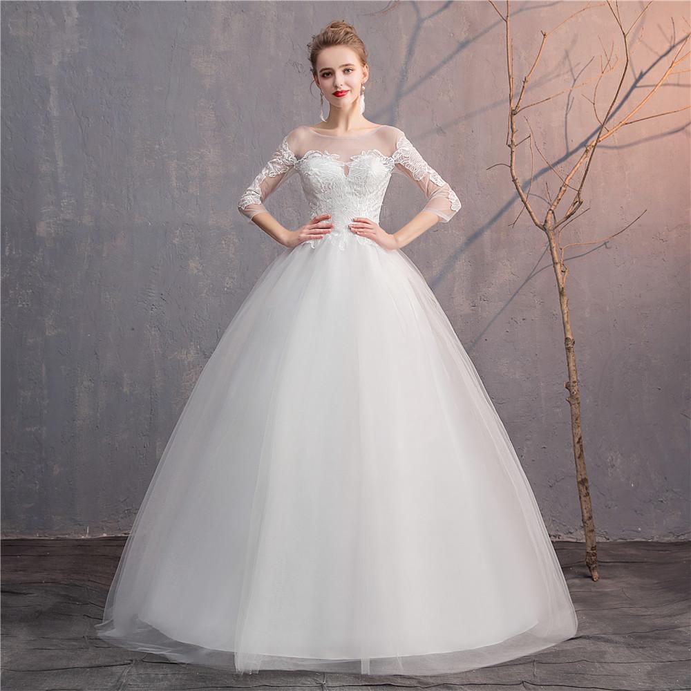 5e0dab7ed1d2 Fmogl Royal Train Sweetheart Ball Gown Wedding Dresses 2019 .