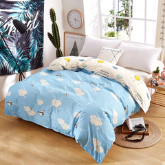 1Pcs Bedding (1 Duvet cover) Super Wash Padding Cotton Elasticity A-color as picture 150*200cm