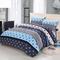 4Pcs Bedding Set(1 Duvet cover+1 Bed sheet+2 Pillow covers) Super Wash Padding Cotton Elasticity c-color as picture 2.0m (6.6 ft) bed