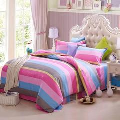 4Pcs Bedding Set(1 Duvet cover+1 Bed sheet+2 Pillow covers) Super Wash Padding Cotton Elasticity e-color as picture 2.0m (6.6 ft) bed