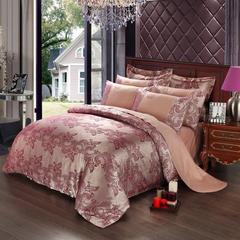 4Pcs Bedding Set(1 Duvet cover+1 Bed sheet+2 Pillow covers) Wedding Bedding Sets Cotton d-color as picture 1.8m-bed