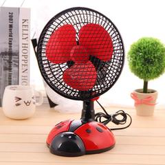 Mini electric fan home desktop small desktop dormitory shaking dormitory fan Desktop fan red color as picture
