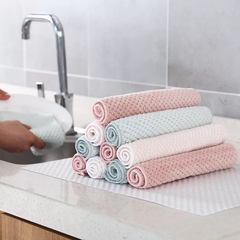 Cloth Bamboo Fiber Washing Towel Magic Kitchen Cleaning Wiping Rags Dishcloth random 2pcs