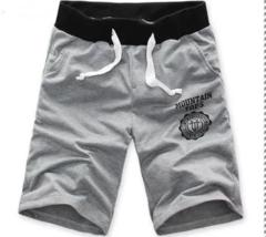 New men's sports shorts drawstring jogging pants shorts sports casual shorts gray 2XL
