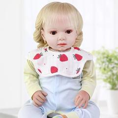 3pcs Fashion baby bib eat 360 degree rotating baby bib headband cloth newborn baby saliva towel random color one size