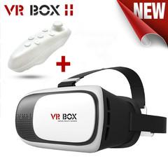 HOT Virtual Reality VR BOX 3D Glasses VR Helmet 3D Video Glasses+Bluetooth Gamepad white