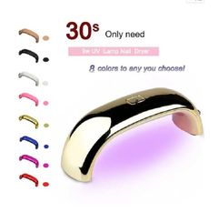 USB 9W UV Lamp LED Nail Art Dryer Gel Polish Manicure Tool pink