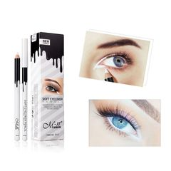 12Pcs/Set Silky White Eyeliner Pencil Silkworm White Highlight Pen Soft Eyeliner Pencil Cosmetics white