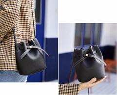 Spring 2019 new handbag, fashion bucket bag trend one-shoulder messenger bag bag black one size