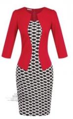 Women twinset-in-one professional Suit  Pencil Dress suit04 3xl