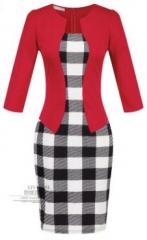 Women twinset-in-one professional Suit  Pencil Dress suit14 l