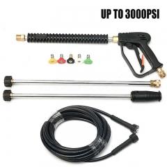 3000PSI High Pressure Car Power Washer Spray Gun Wand Lance Nozzle Tips Hose Kit