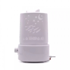 Air humidifier, mini night lamp, aromatherapy humidifier, ultrasonic atomizing household humidifier white 1500ml 25W
