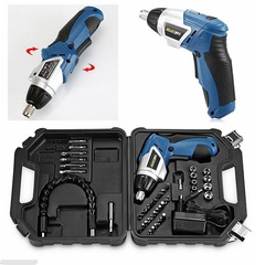 45-in-1 power tool 180° rechargeable cordless electric screwdriver drill kit