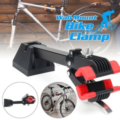 Heavy-duty wall-mounted bicycle bicycle repair frame folding clip bicycle storage rack