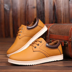 1 pair New Men Waterproof Non-slip Shoes Men's Brooks Tooling Shoes Casual Flats Fashion Sneakers brown 39