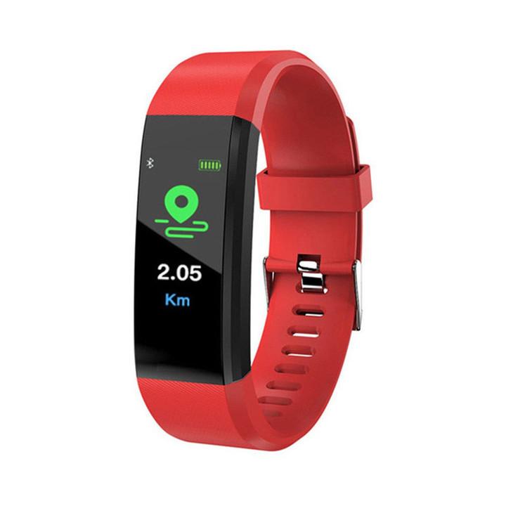 2019 New Digital Smart Watch Men Women Heart Rate Monitor Fitness Tracker Smartwatch Sport Watch red